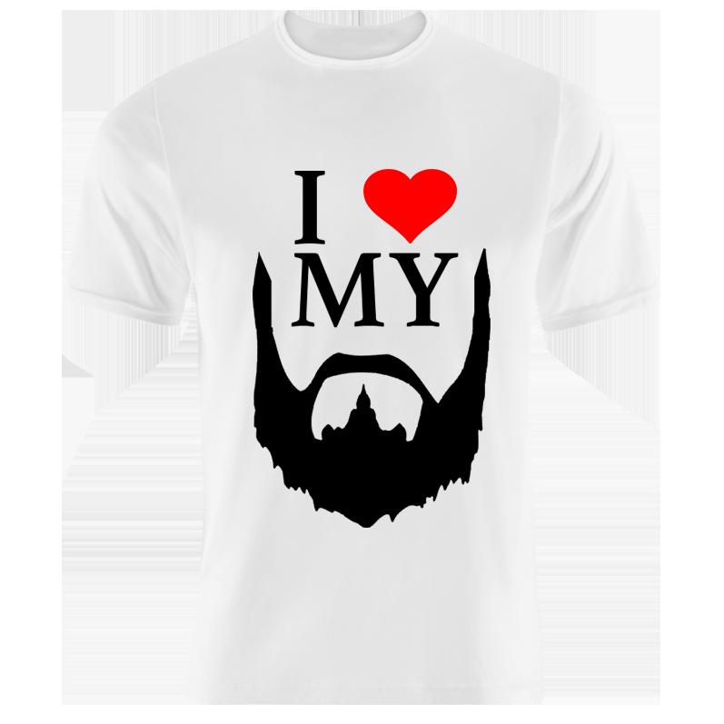 7bf49ddb1 I Love My Beard T-Shirt - Fresh Prints | Specialising in Design ...