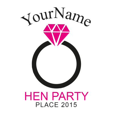 Hen Party Ring T-Shirt (Personalise Me)