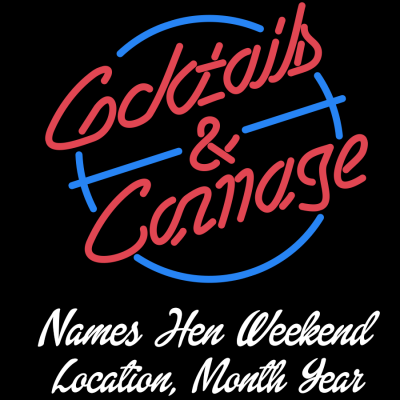 Cocktails and Carnage Vest (Personalise Me)