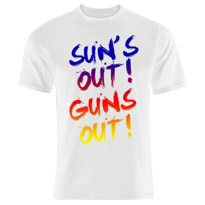 Suns Out Guns Out T-Shirt (Personalise Me)