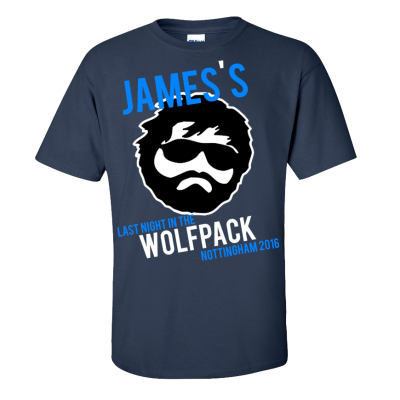 Last Night Wolfpack T-Shirt  (Personalise Me)