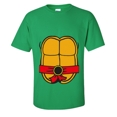 Teenage Turtle T-Shirt Red (Personalise Me)