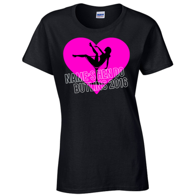Burlesque Heart T-Shirt (Personalise Me)