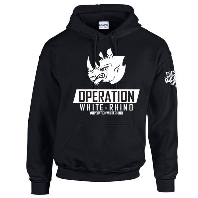 Operation White Rhino Pullover Hoodie