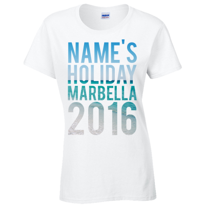Beach T-Shirt (Personalise Me)
