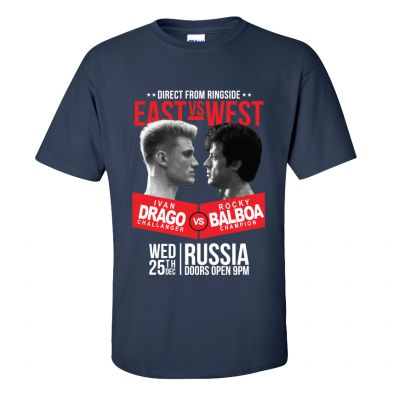 Drago v Balboa - East v West T-Shirt 2