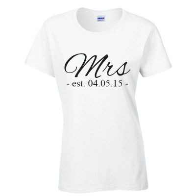 Mrs T-Shirt (Personalise Me)