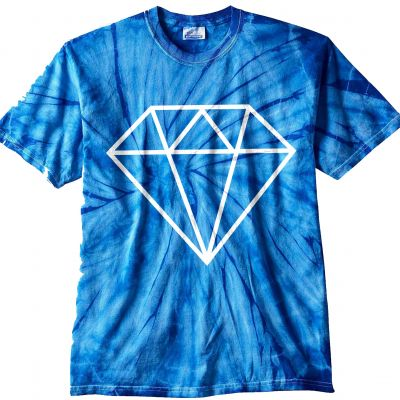 White Diamond Tye Dye T-Shirt