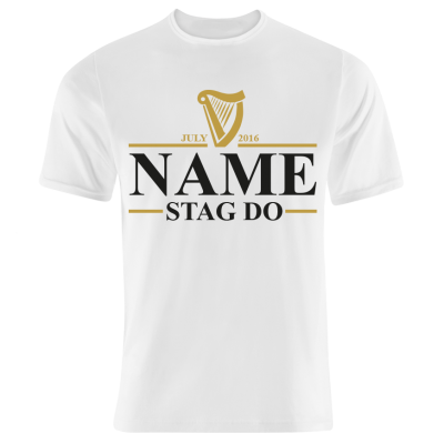 Irish Stout Stag Do - T-Shirt (Personalise Me)