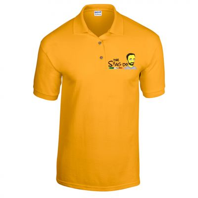 Simpsons Stag Polo (Personalise Me)