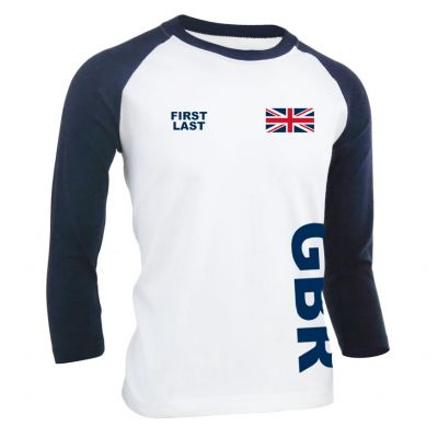 3/4 Sleeve Baseball T-Shirt - Personalise Me