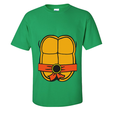 Teenage Turtle T-Shirt Orange (Personalise Me)