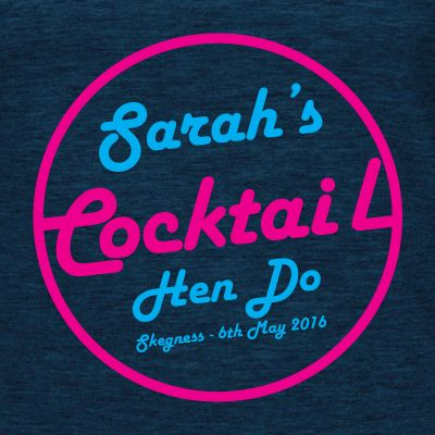 Cocktails & Dreams Hen T-Shirt (Personalise Me)