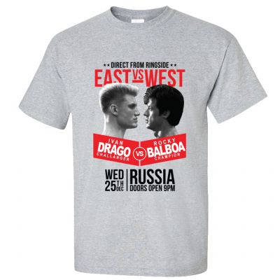 Drago v Balboa - East v West T-Shirt