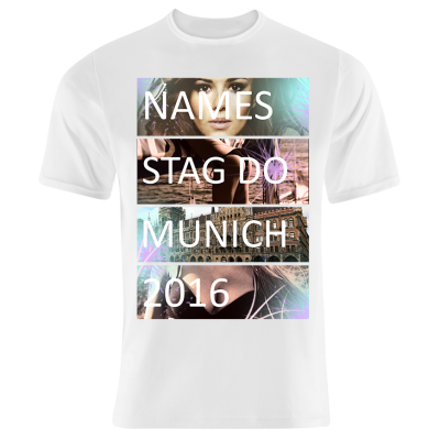Stag Do Collage T-Shirt (Personalise Me)