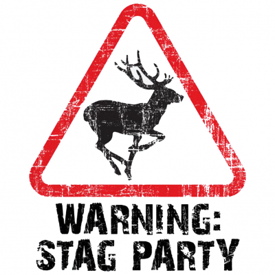 Warning Stag Party T-Shirt (Personalise Me)