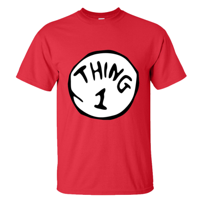 Thing 1 & 2 T-Shirt Pack (Personalise Me)
