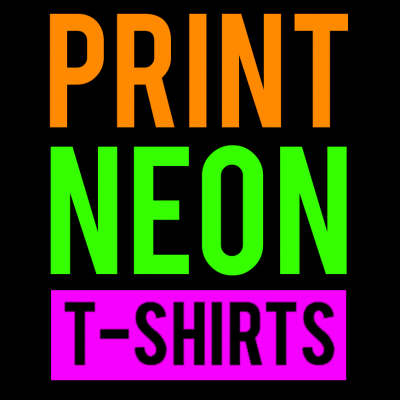 Neon Custom Design 1 T-Shirt (Personalise Me)